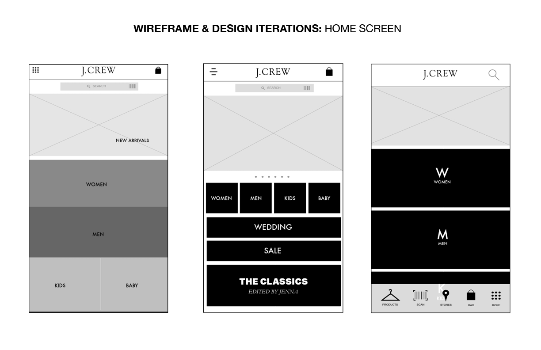 J.Crew Mobile App Design - image 6 - student project
