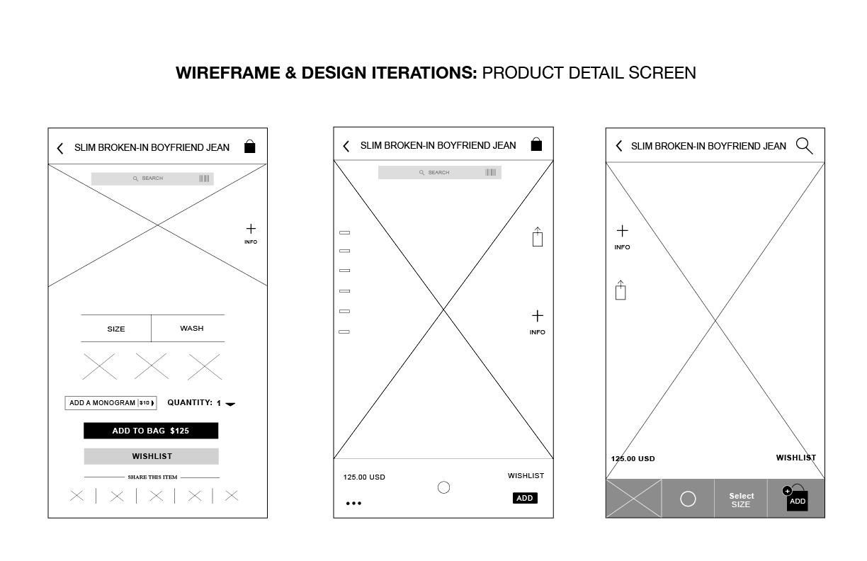 J.Crew Mobile App Design - image 10 - student project