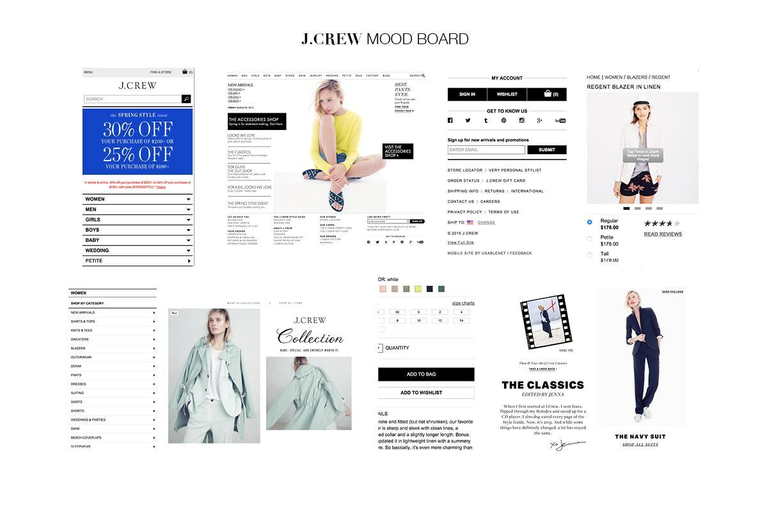 J.Crew Mobile App Design - image 1 - student project