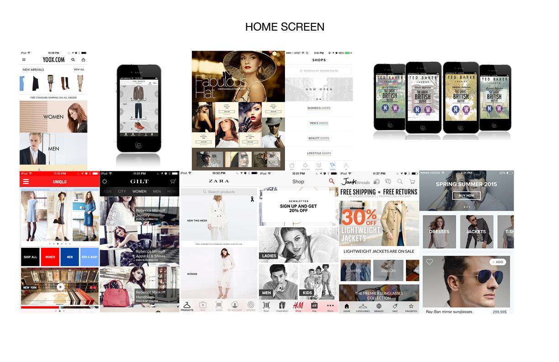 J.Crew Mobile App Design - image 2 - student project