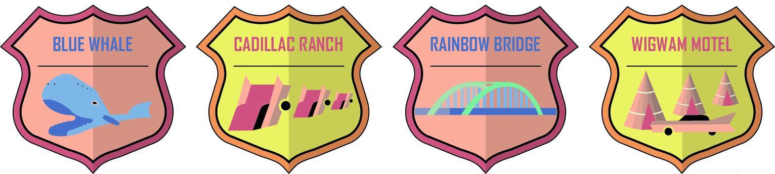 Badges for Travel Journal / Blog - image 13 - student project