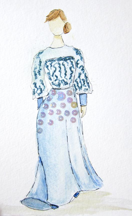EMBELLISHED WATERCOLORS -- updated -- romanticism turned modern - image 2 - student project