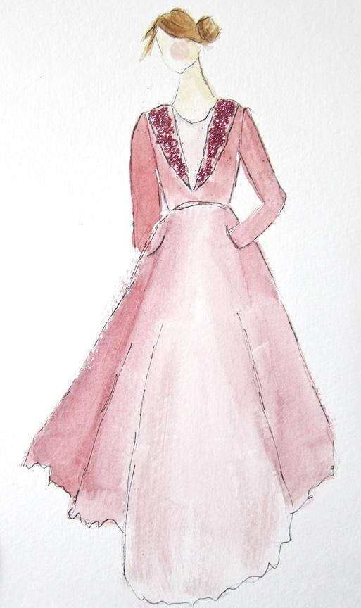 EMBELLISHED WATERCOLORS -- updated -- romanticism turned modern - image 1 - student project