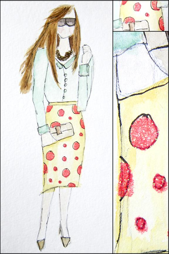 EMBELLISHED WATERCOLORS -- updated -- romanticism turned modern - image 4 - student project