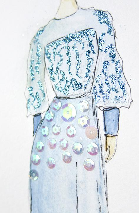 EMBELLISHED WATERCOLORS -- updated -- romanticism turned modern - image 3 - student project