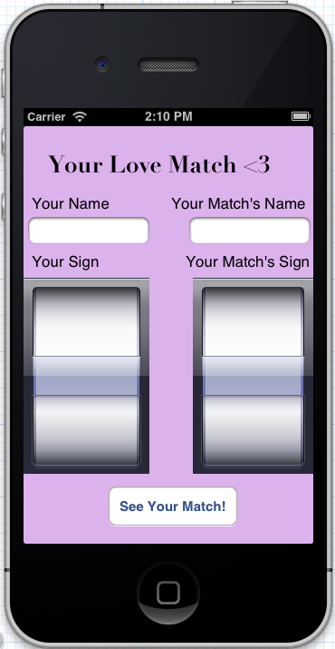 Your Love Match -- An Astrological Compatibility Reference App - image 1 - student project