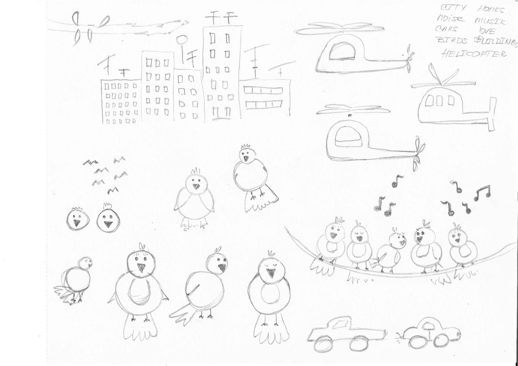 'Noisy birds' sketch - image 1 - student project