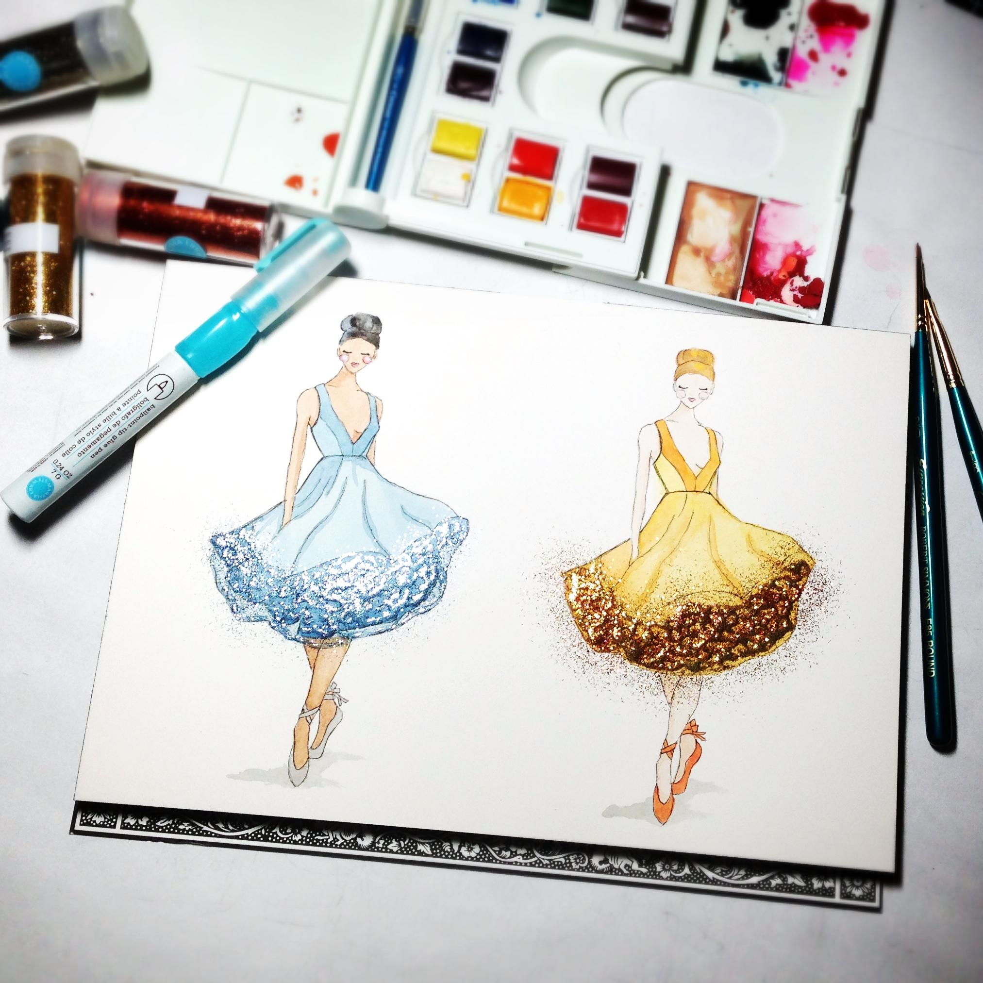 Updated: Embellished Ballerina Beauty - image 2 - student project