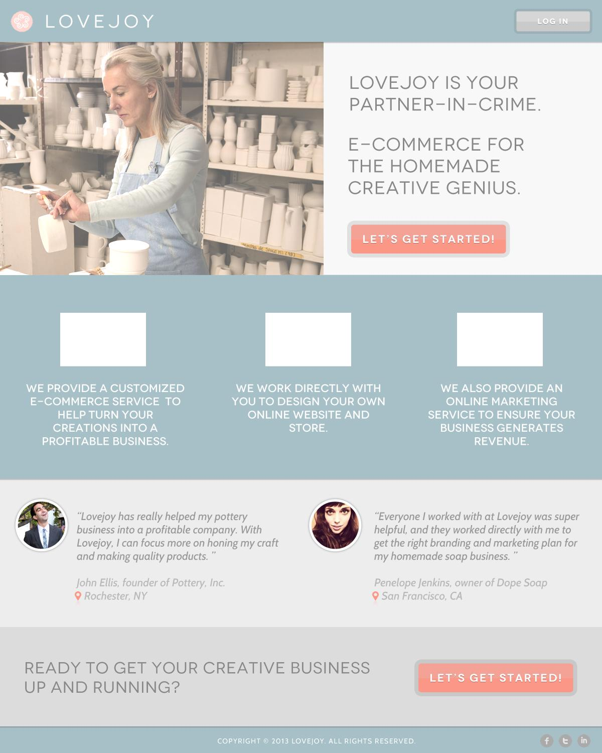 Lovejoy - E-commerce for the homemade creative genius - image 2 - student project