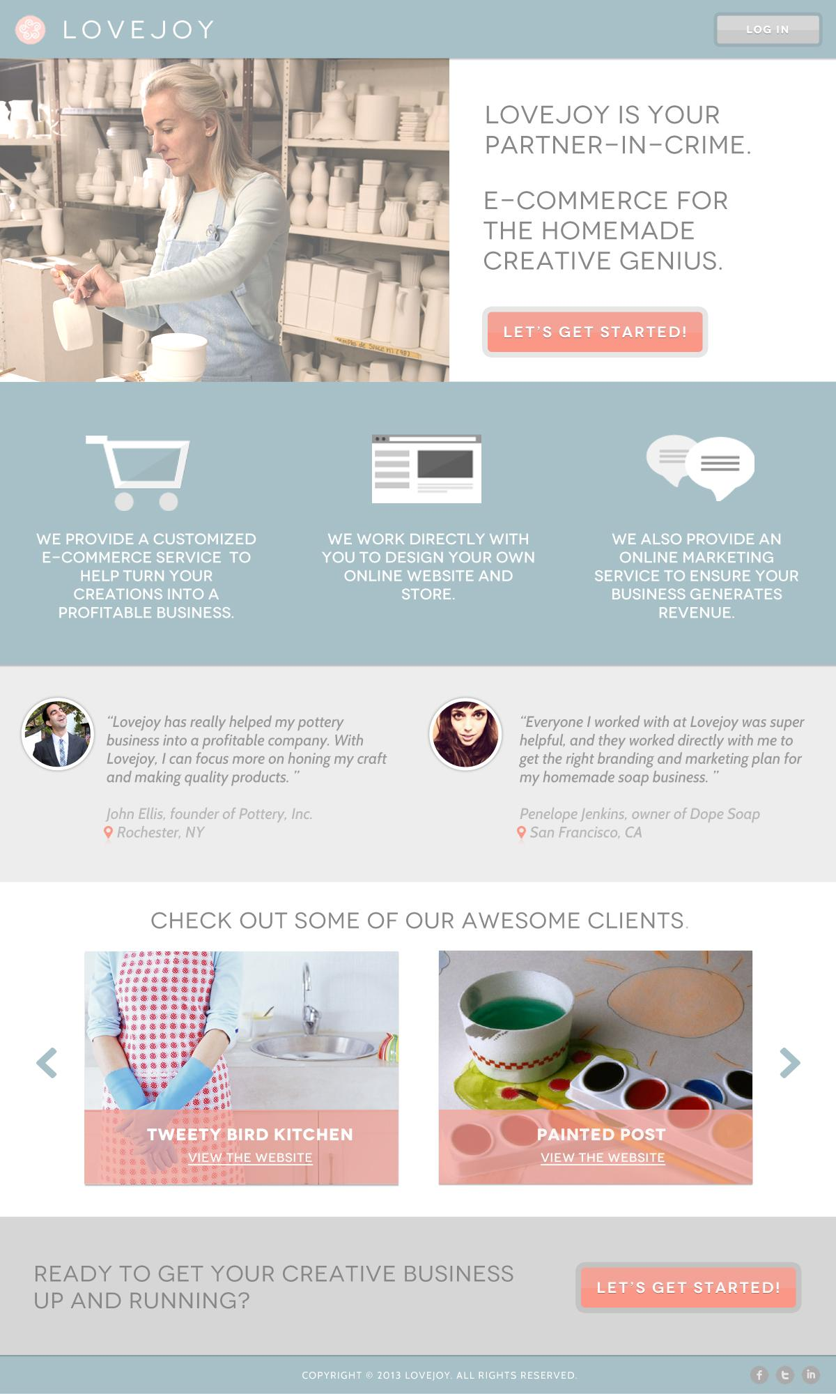 Lovejoy - E-commerce for the homemade creative genius - image 3 - student project