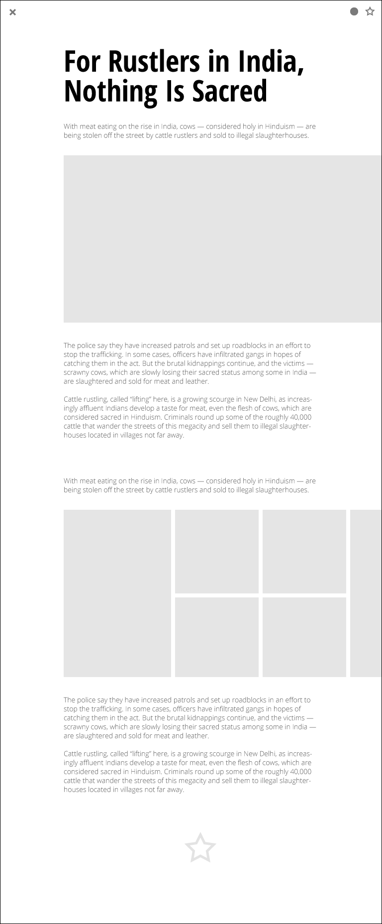 """RSS reader """"Fresh Magazine"""" - image 7 - student project"""