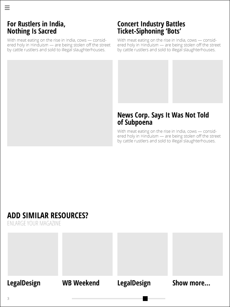 """RSS reader """"Fresh Magazine"""" - image 6 - student project"""