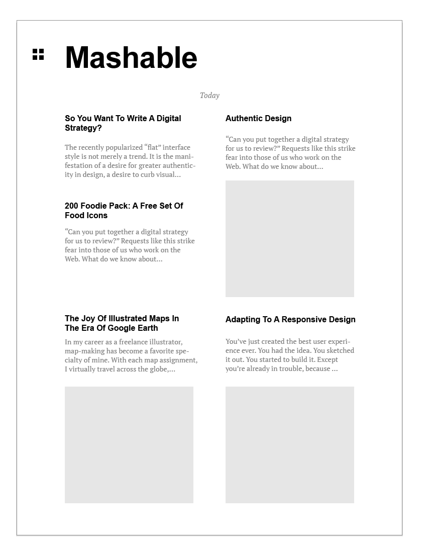"""RSS reader """"Fresh Magazine"""" - image 10 - student project"""
