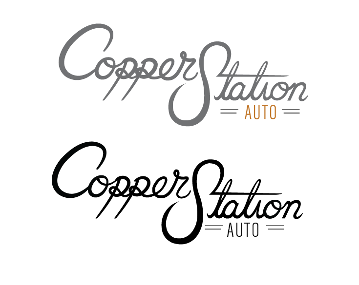 Copper Station custom type logo - image 1 - student project