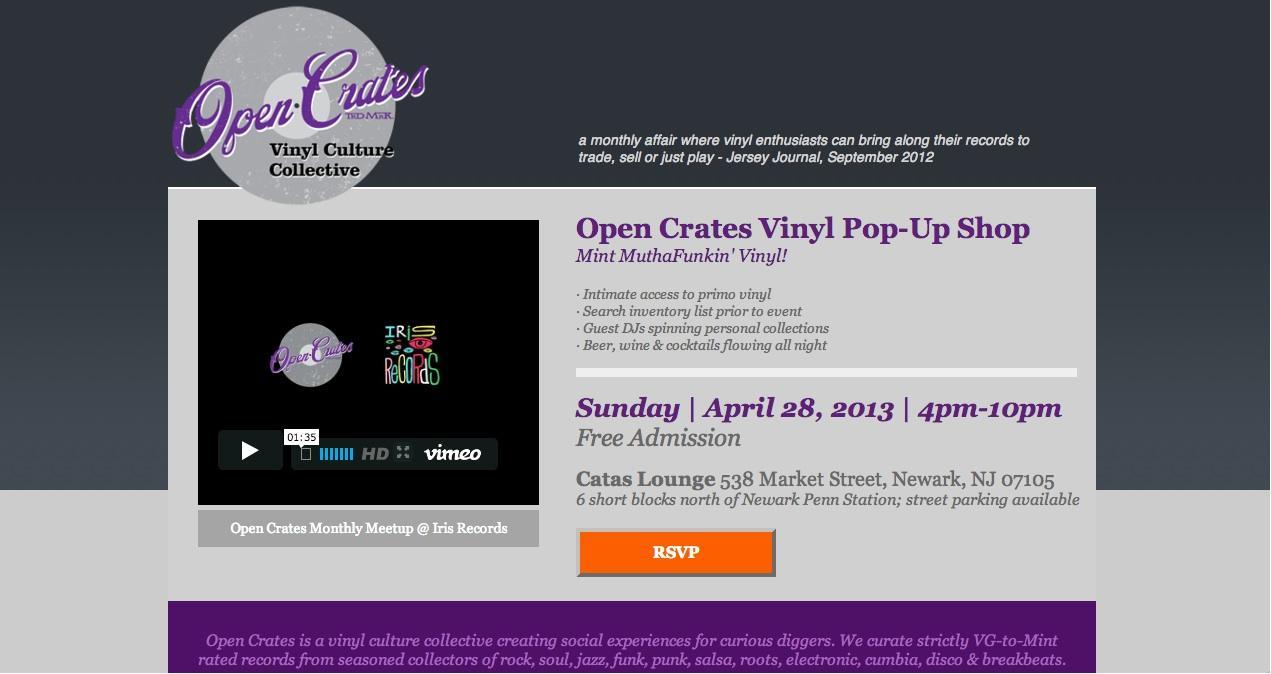 Open Crates Vinyl Pop-Up Shop - image 1 - student project