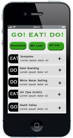 Go! Eat! Do! - image 1 - student project