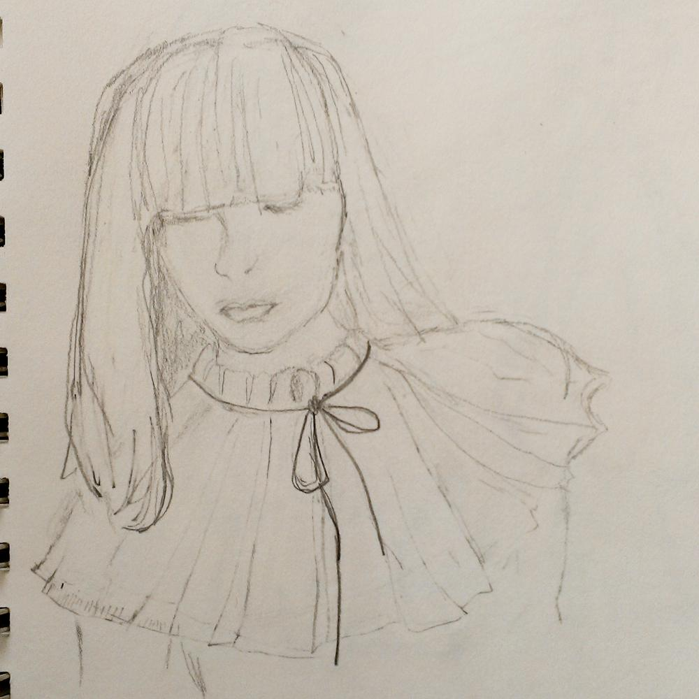 SKETCH - 3/18 - kooky pleats and volume and shapes - image 1 - student project