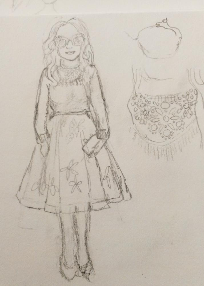 SKETCH - 3/18 - kooky pleats and volume and shapes - image 3 - student project