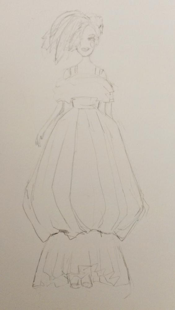 SKETCH - 3/18 - kooky pleats and volume and shapes - image 4 - student project