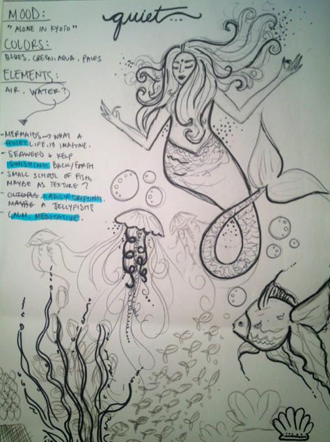 Meditative Mermaid. - image 1 - student project