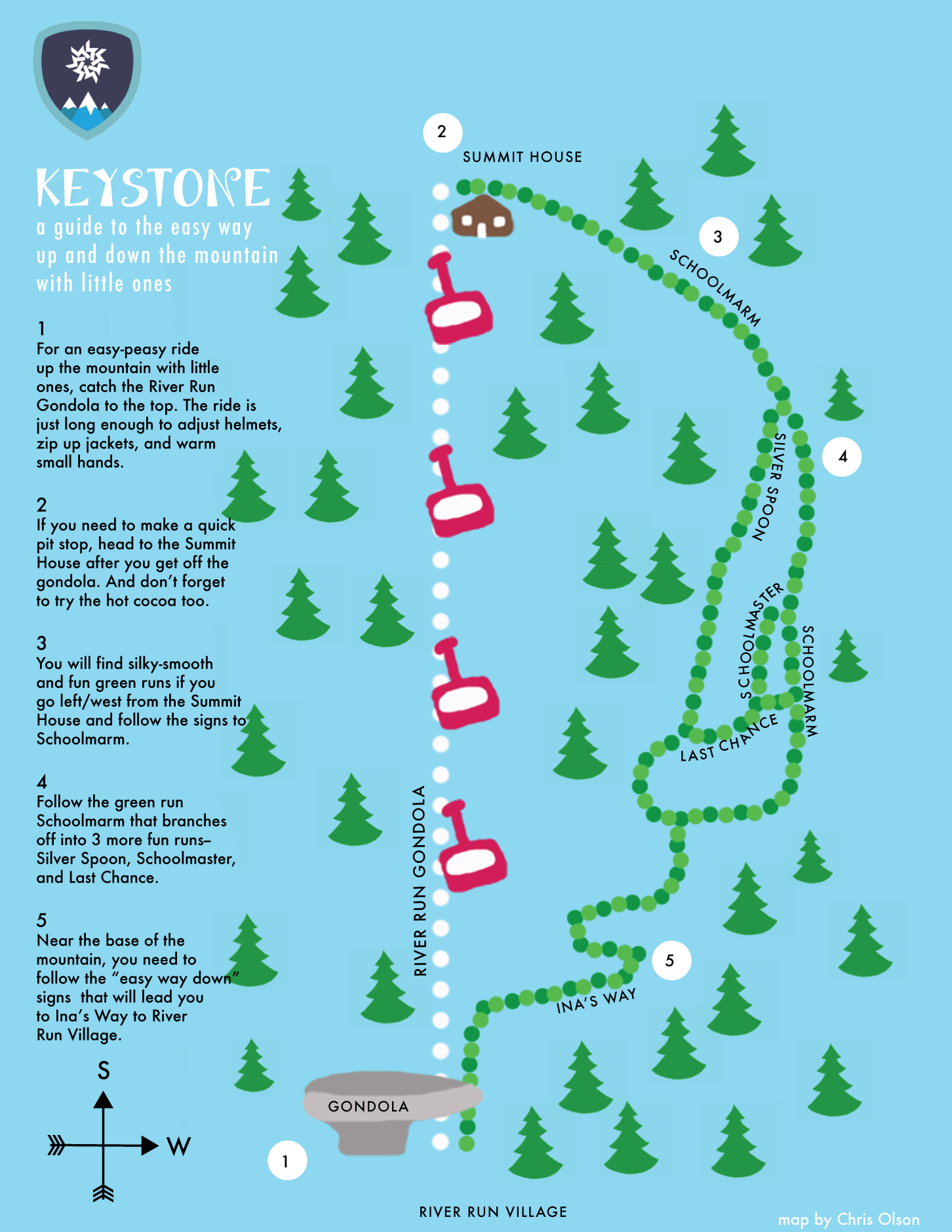 Keystone Map: Guide to the easy way up and down the mountain with little ones - image 1 - student project
