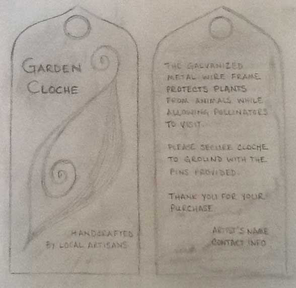 Garden Cloche Tags - image 3 - student project