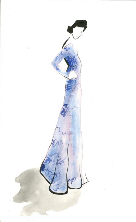 Glitter final: Watercolor: Sketch: Glitter Girl - image 2 - student project