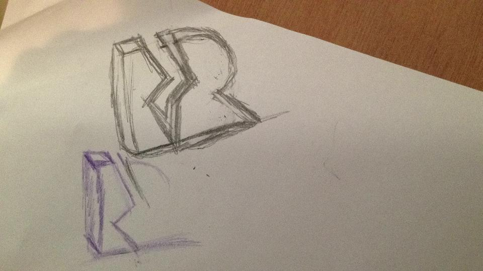 """Rudy Rude - """"R"""" logo lighting bolt separating single """"R"""" into two """"R""""'s.  -3d? Flat? - image 51 - student project"""
