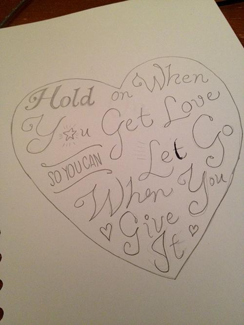 Hold On When You Get Love So You Can Let Go When You Give It - image 4 - student project