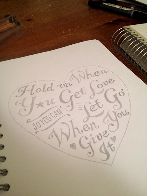 Hold On When You Get Love So You Can Let Go When You Give It - image 5 - student project