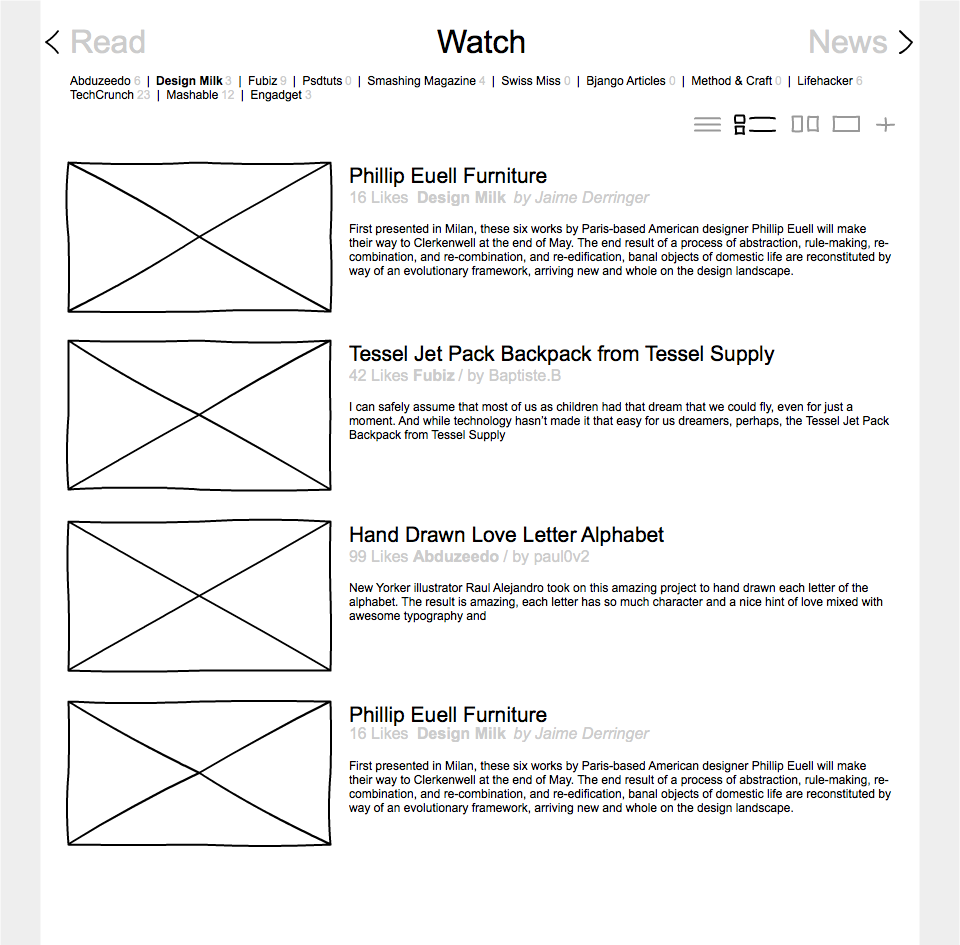 RSS Reader - image 3 - student project