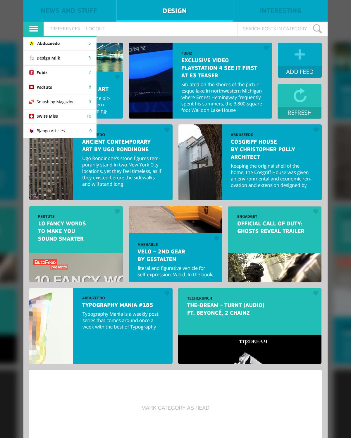 RSS Reader - image 9 - student project
