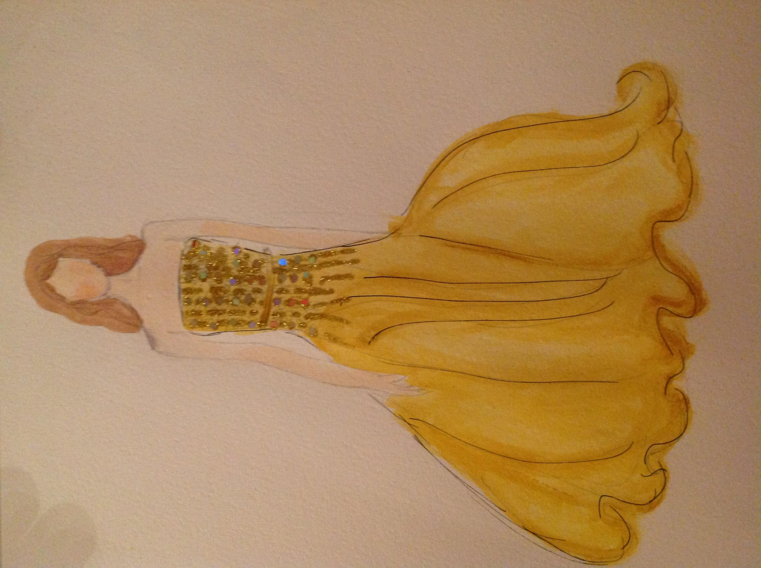 FINAL WATERCOLOR AND SKETCHES Sparkle and Lace - image 9 - student project