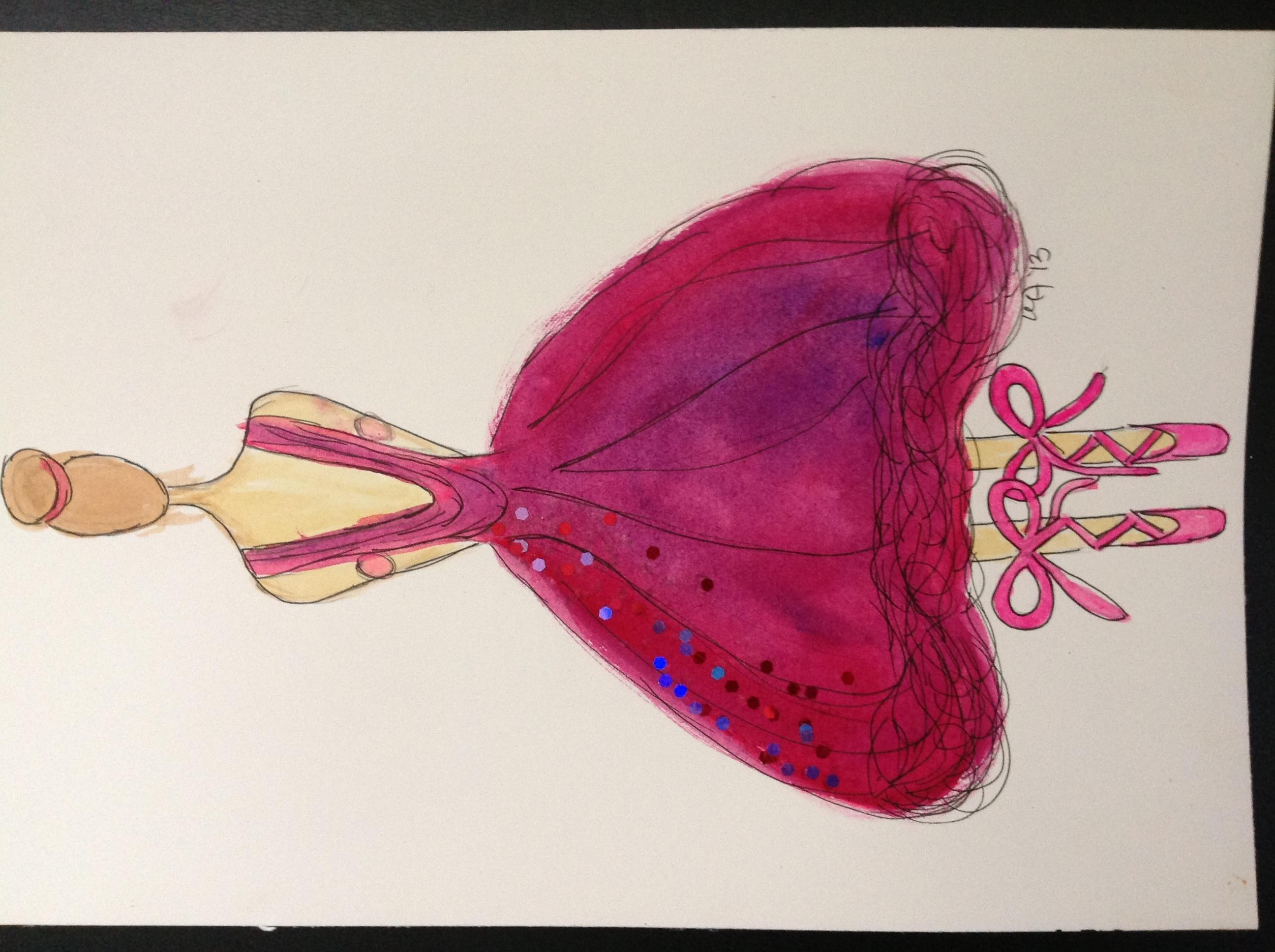 FINAL WATERCOLOR AND SKETCHES Sparkle and Lace - image 2 - student project