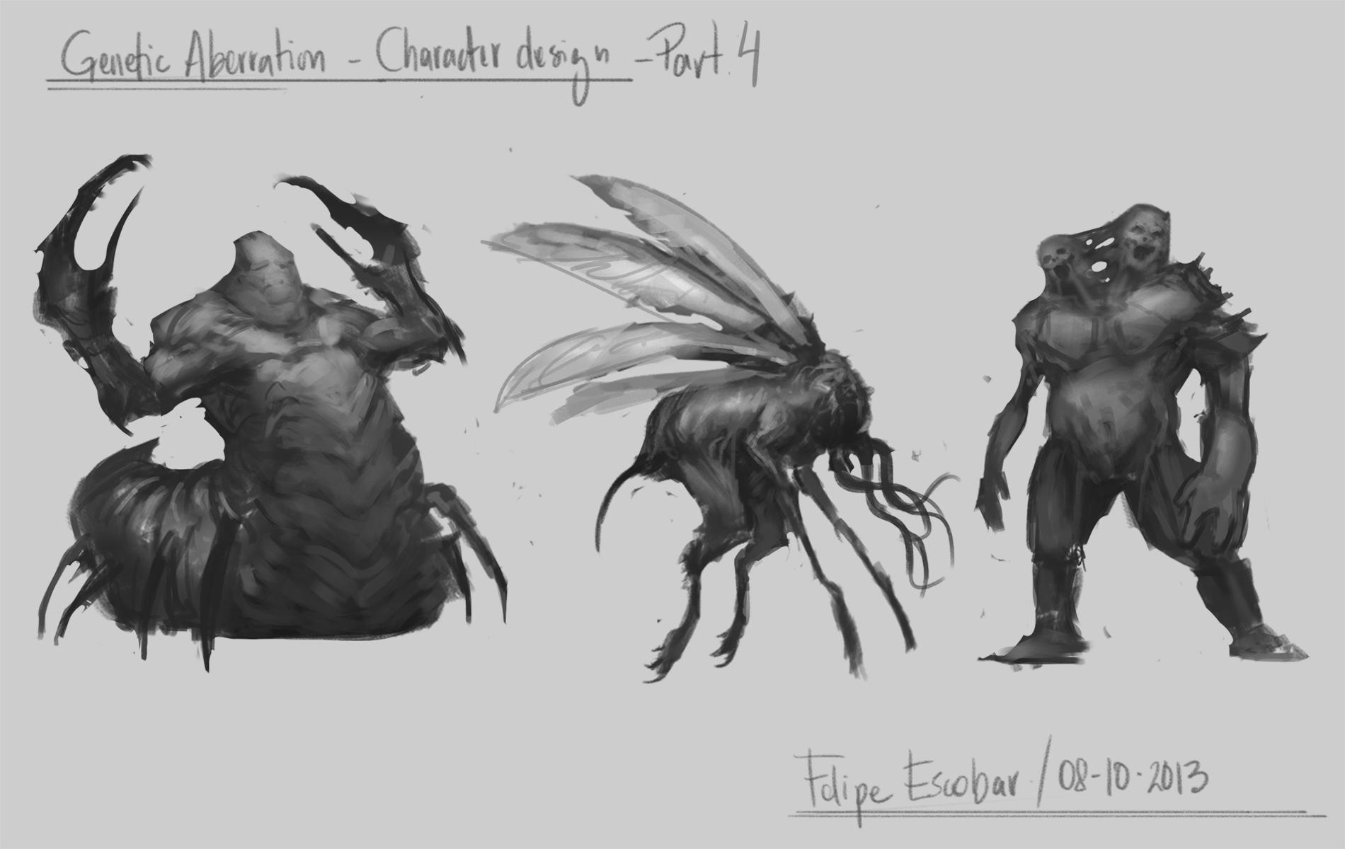 Genetic Aberration - Character design  - image 4 - student project