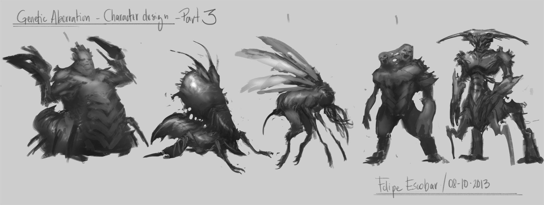 Genetic Aberration - Character design  - image 3 - student project