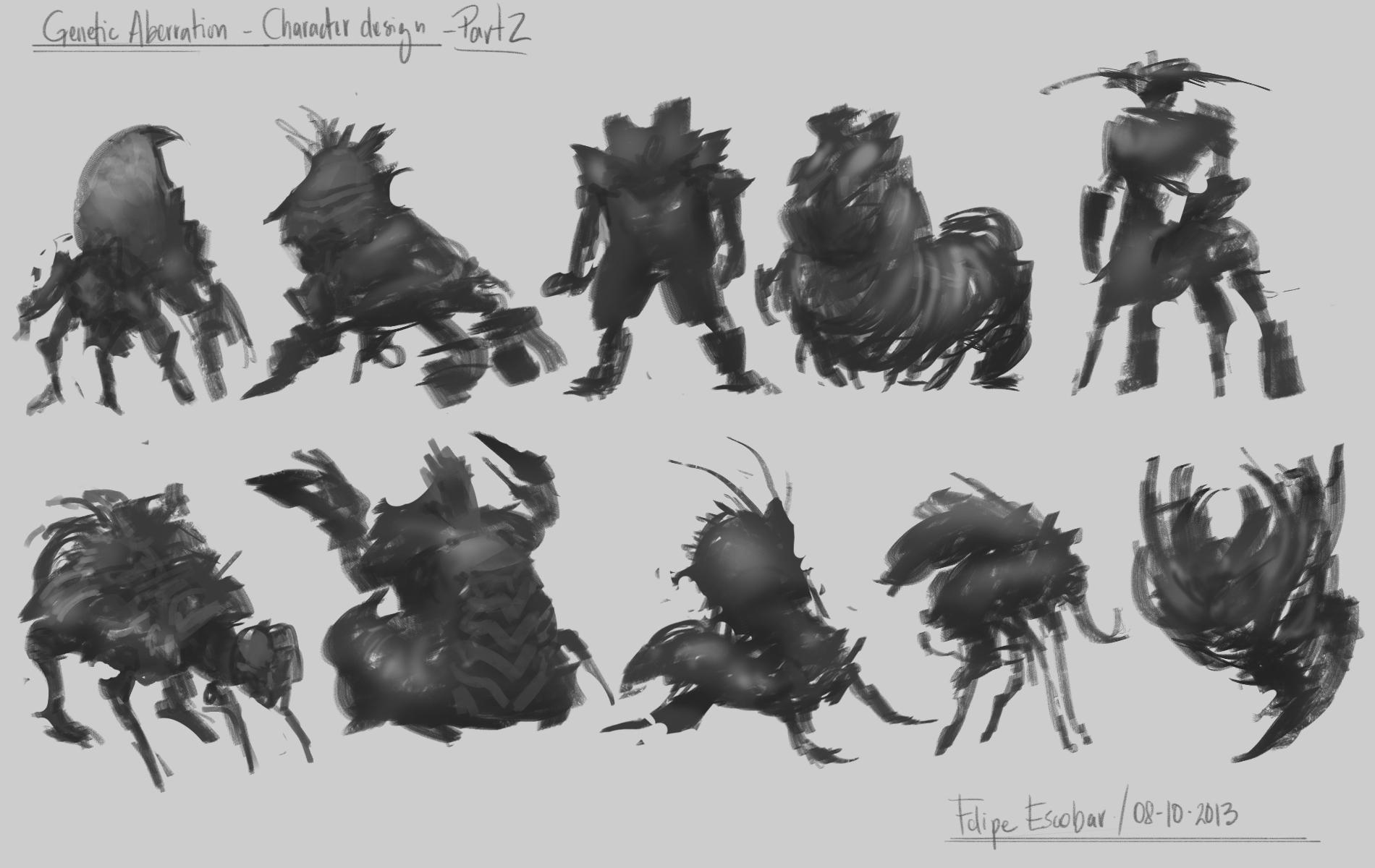 Genetic Aberration - Character design  - image 2 - student project