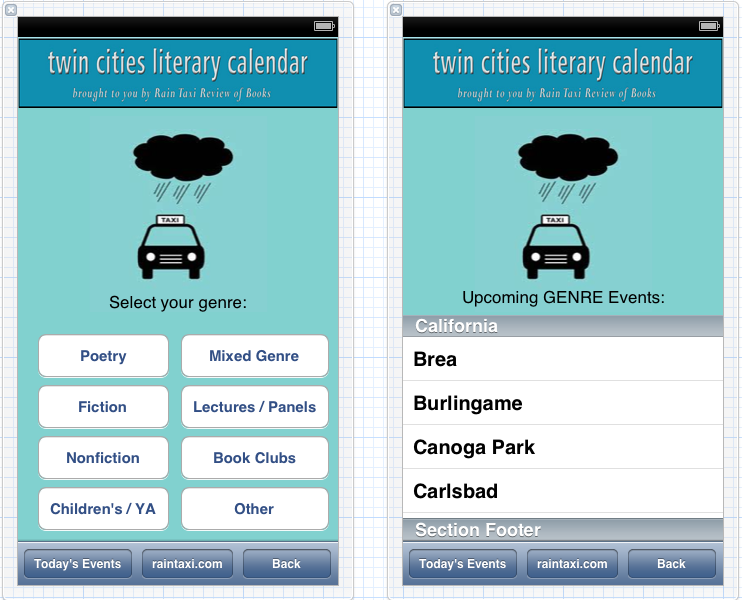 Twin Cities Literary Calendar  - image 3 - student project