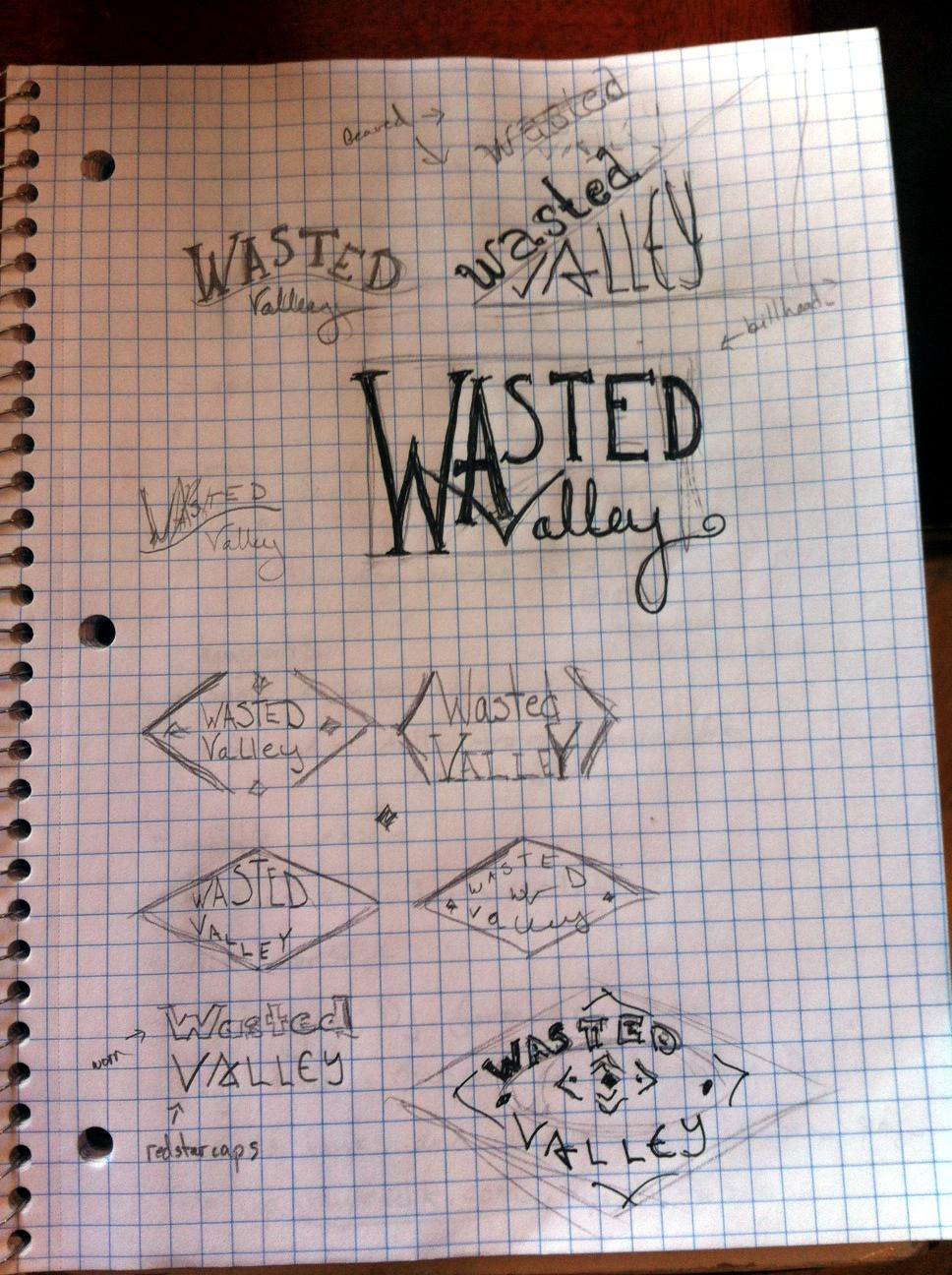 Wasted Valley Logo - image 3 - student project