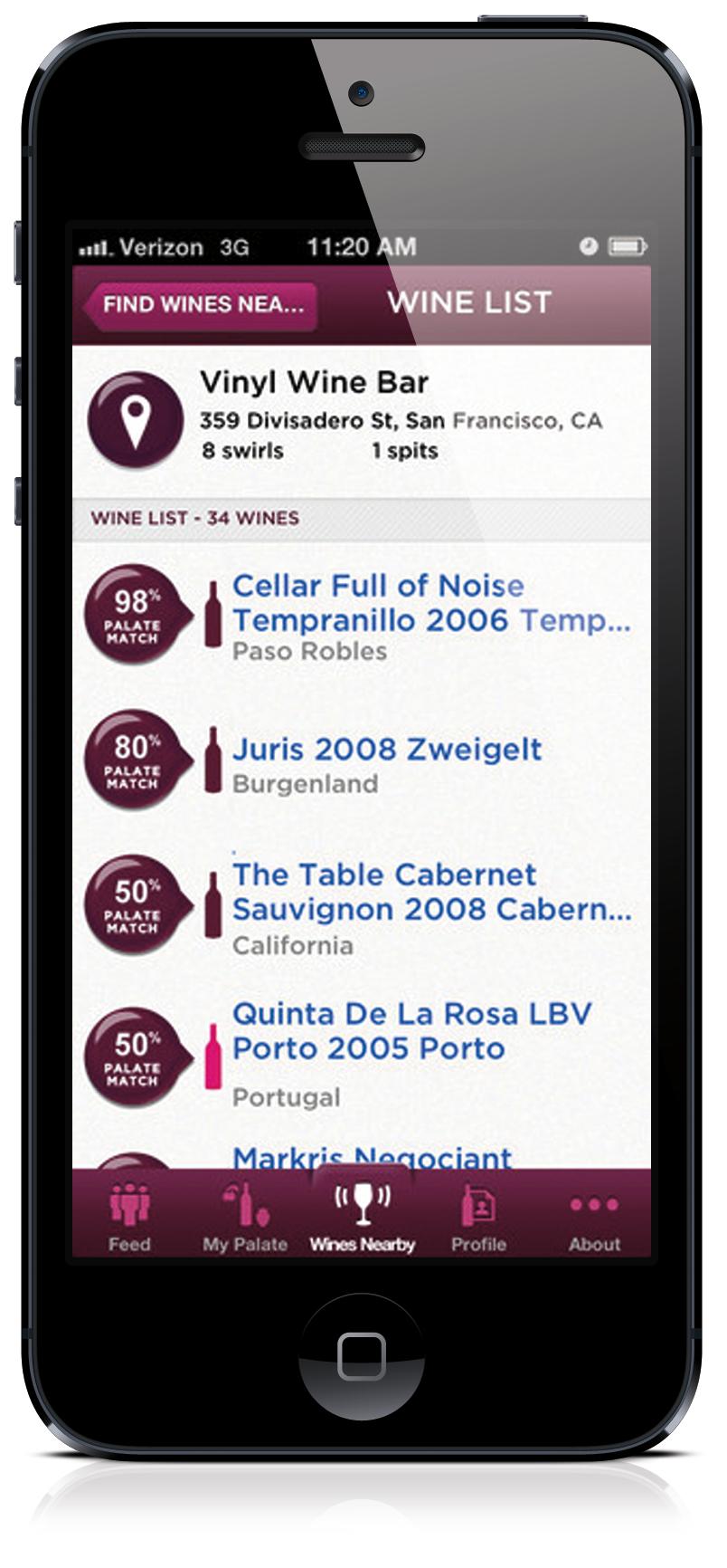 Swirl it! Taste-Based wine Recommendation App - image 2 - student project