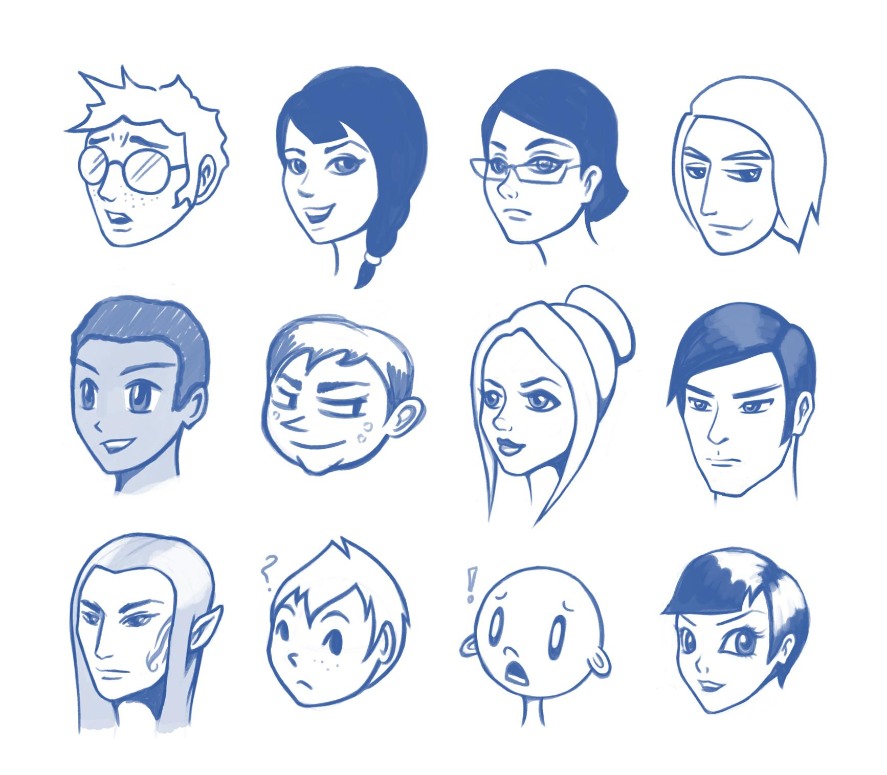 Jaleh's Characters - image 1 - student project