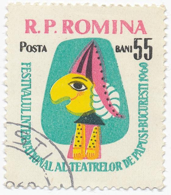 Recreating a 1960 Romanian Stamp-International Festival of Puppet Theatre - image 1 - student project