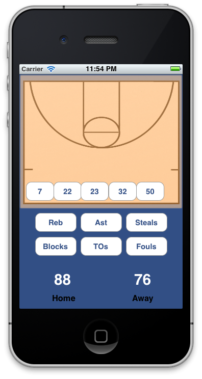 Basketball Stat Tracker - image 1 - student project