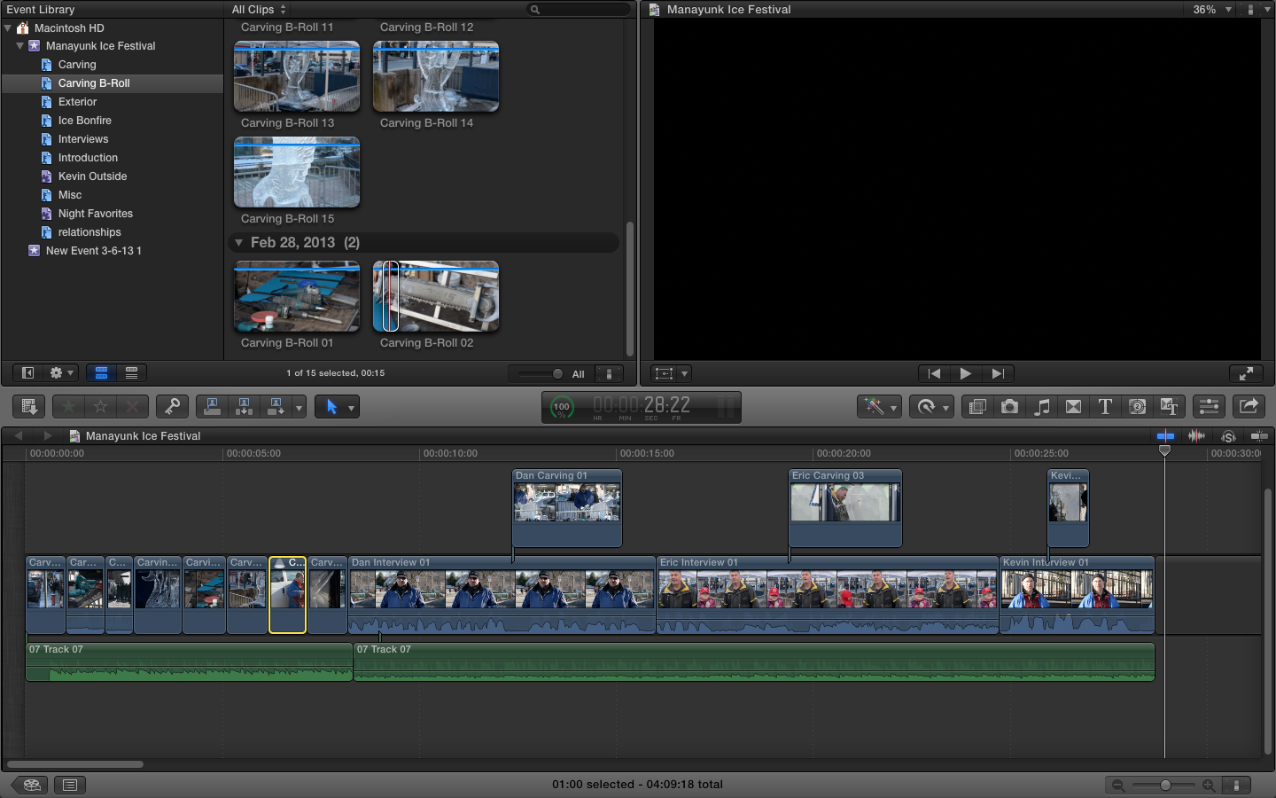 Manayunk Ice Festival ( :30 Rough Cut) - image 1 - student project