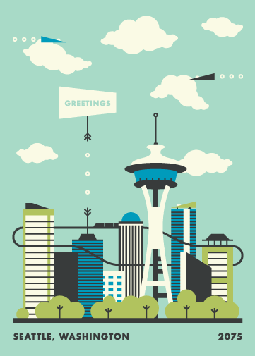 Seattle Postcard - image 5 - student project