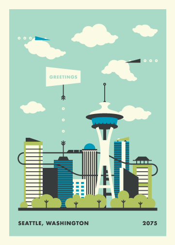 Seattle Postcard - image 6 - student project