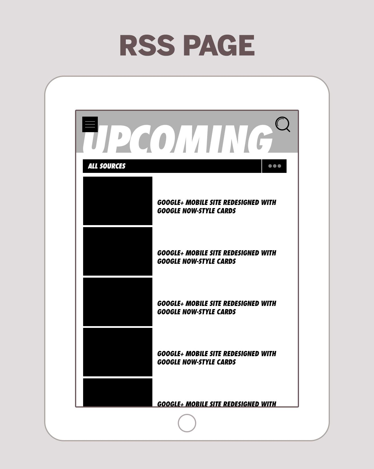 iPad RSS Reader - image 8 - student project