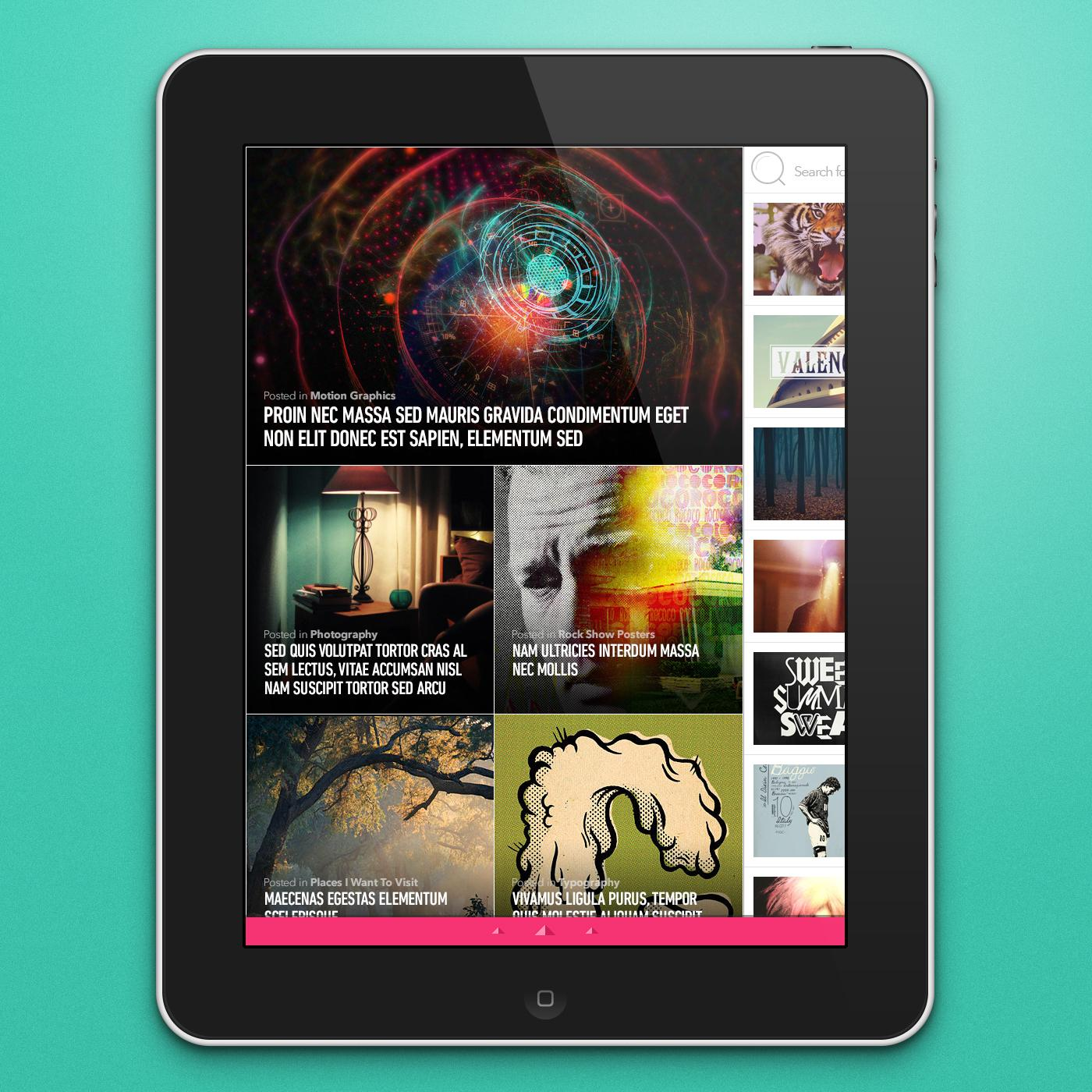 iPad RSS Reader - image 1 - student project