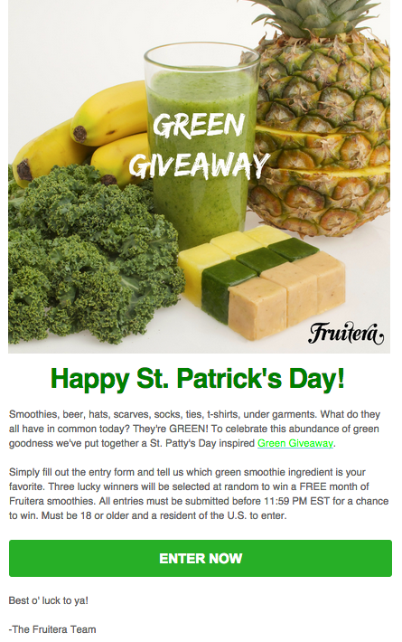 Fruitera Smoothies Announcing A Giveaway - image 1 - student project