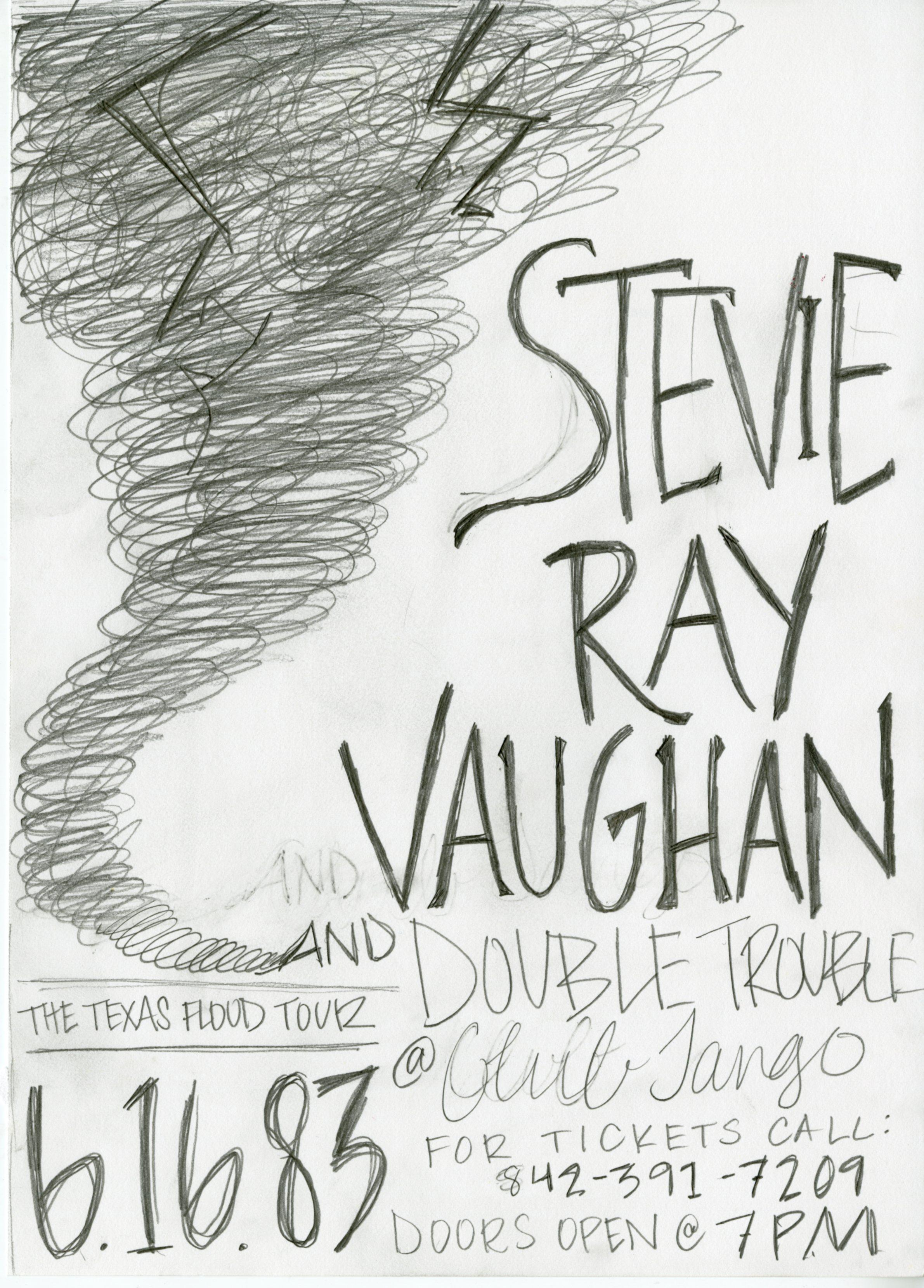 Stevie Ray Vaughan Concert Poster - image 2 - student project